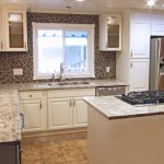 Alpine White cabinets with Cream White countertops