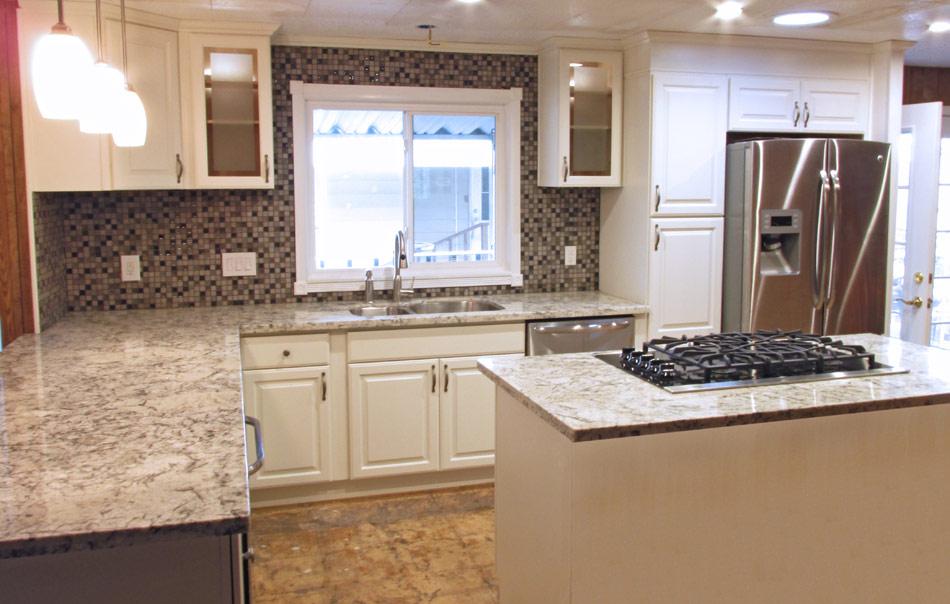 Alpine White Cabinets With Cream White Countertops