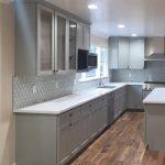 Arctic Shaker Gray Cabinets