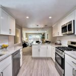 Arctic Shaker White Cabinets and River White countertops